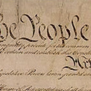 Image of the US Constitution.