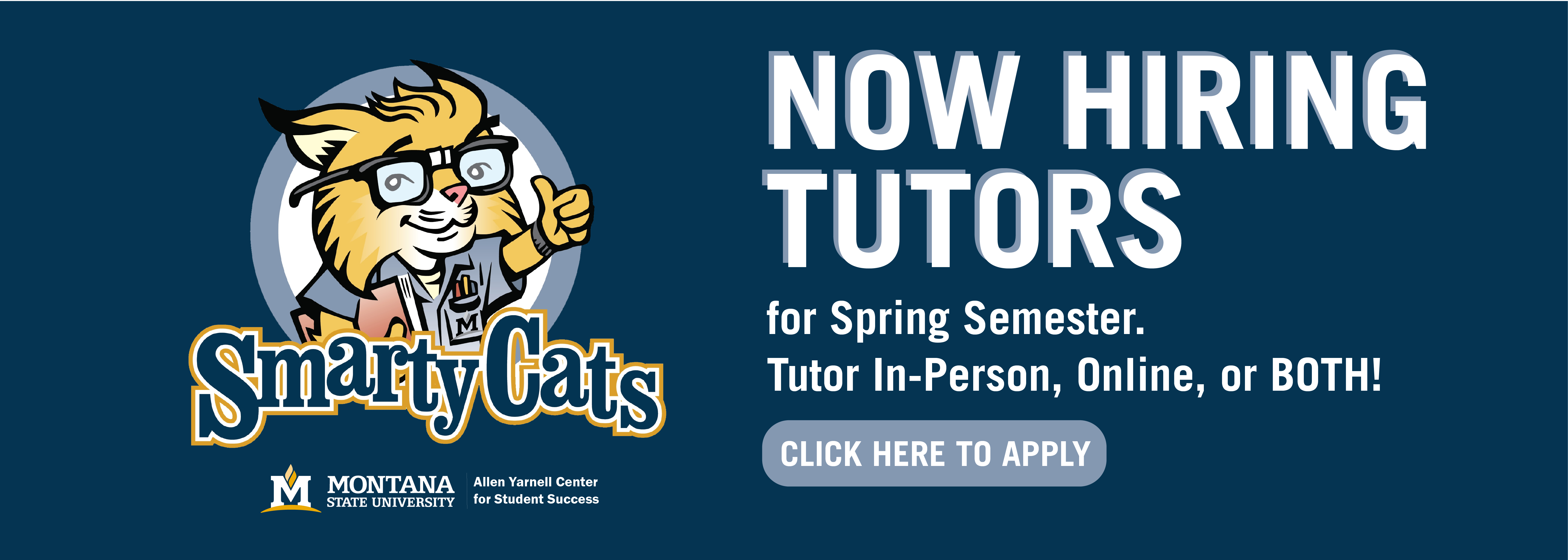 Now Hiring Tutors for spring semester. Tutor in person, online, or both.