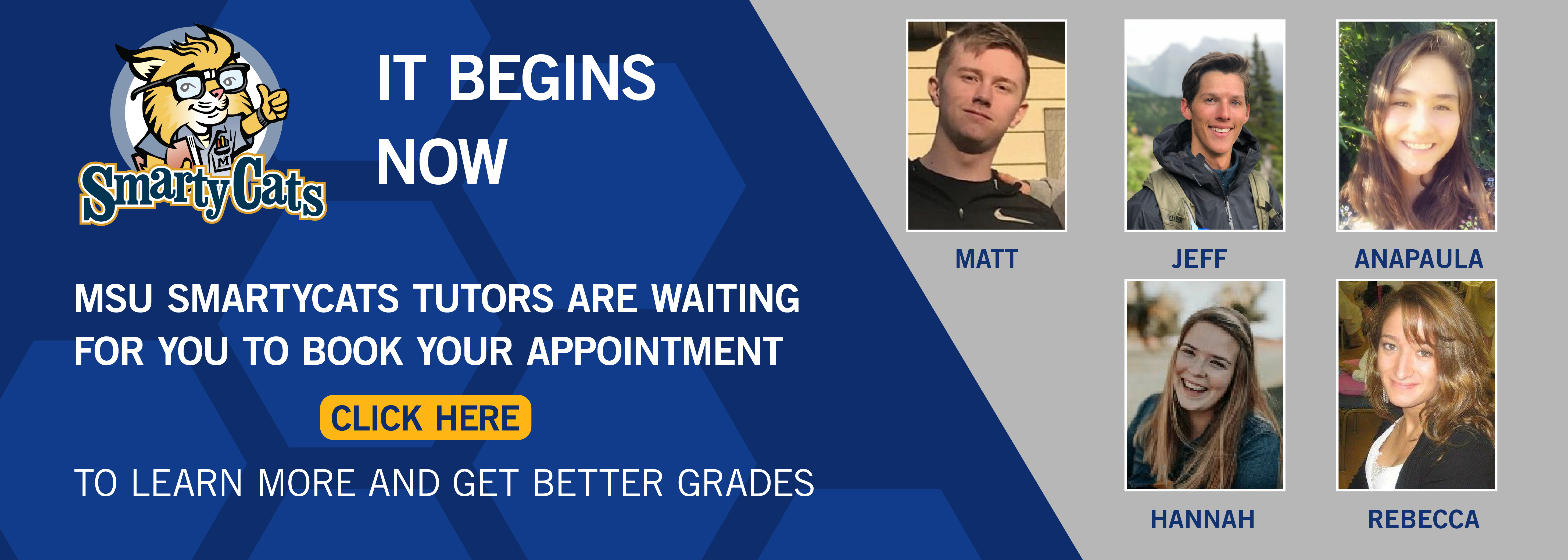 It Begins Now! book your appointment with the tutor today!