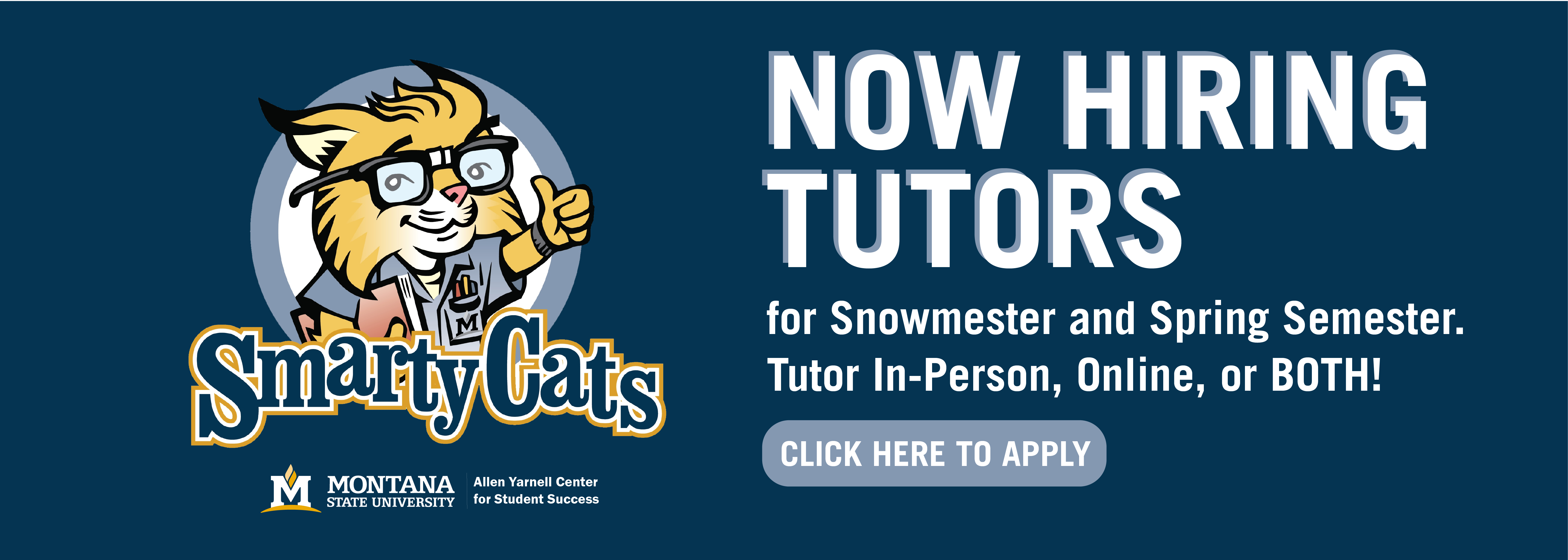 Now hiring tutors! Tutor in-person, online, or both! Click here to apply