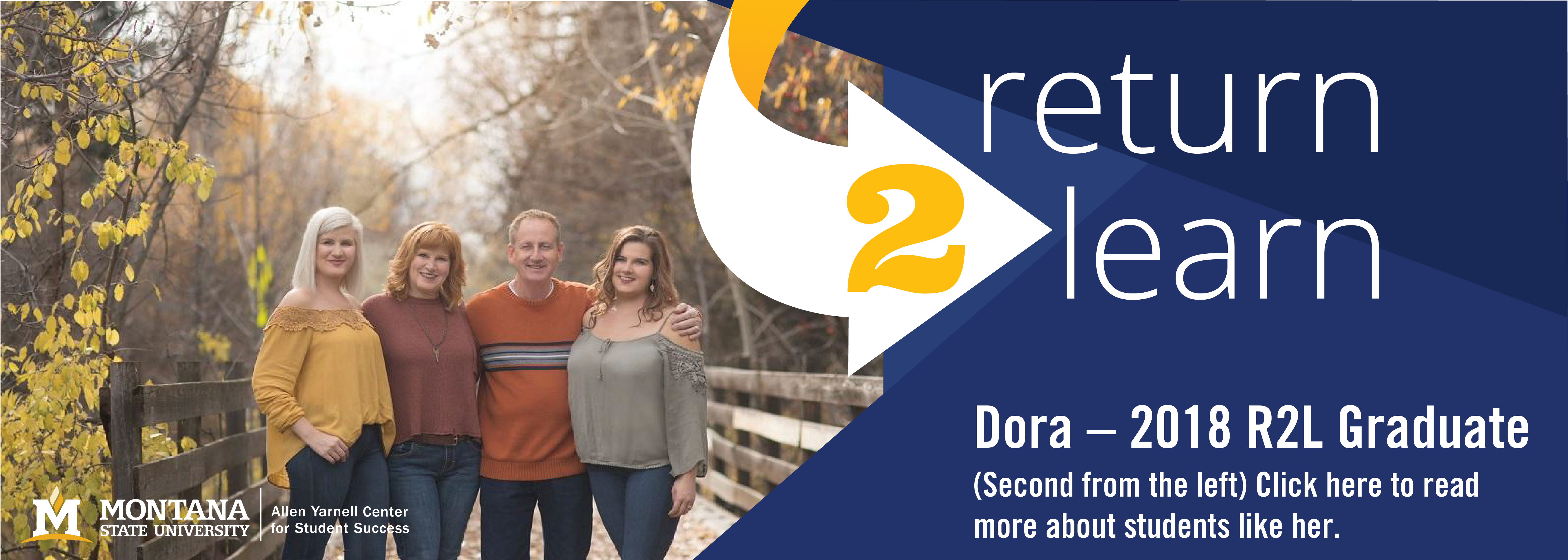 Dora - 2018 R2L graduate.  click here to read story about her