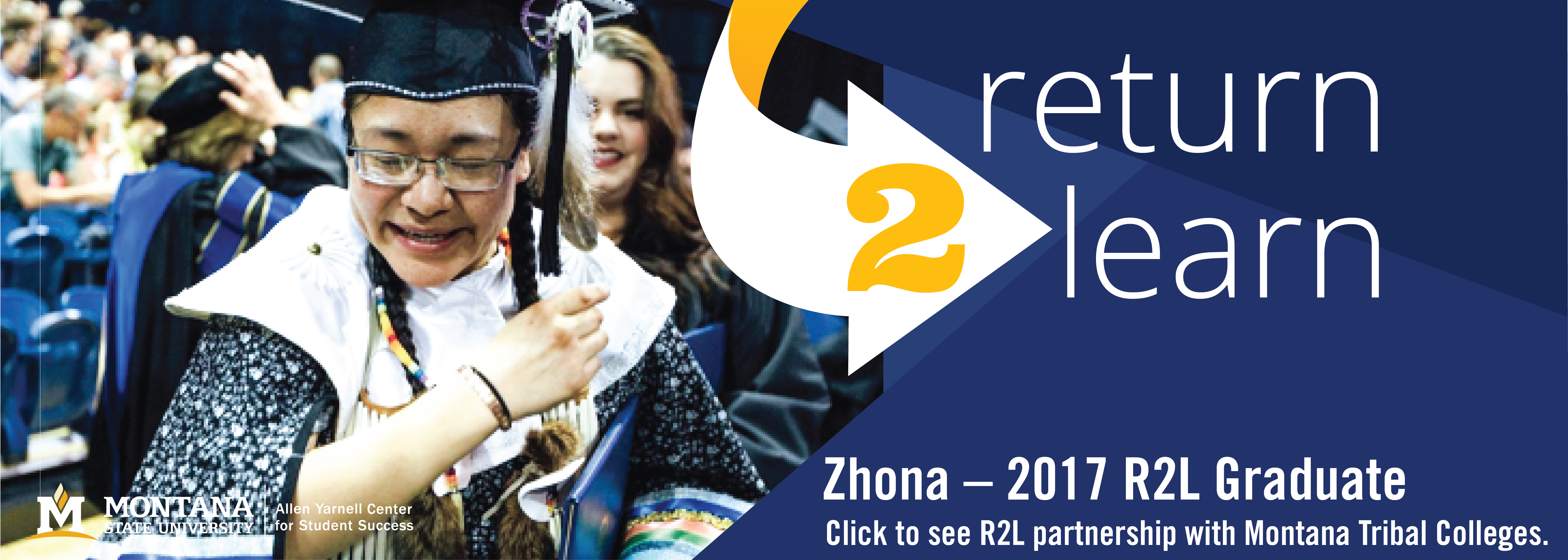 Zhona 2017 R2L Graduate. click here to learn R2L partnership with tribal college