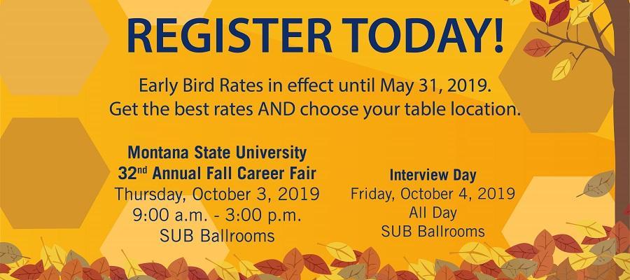 Career Fair Registration Banner