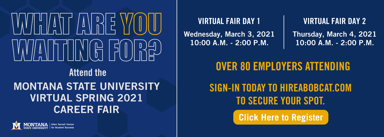 MSU Virtual Spring 2021 Career Fair