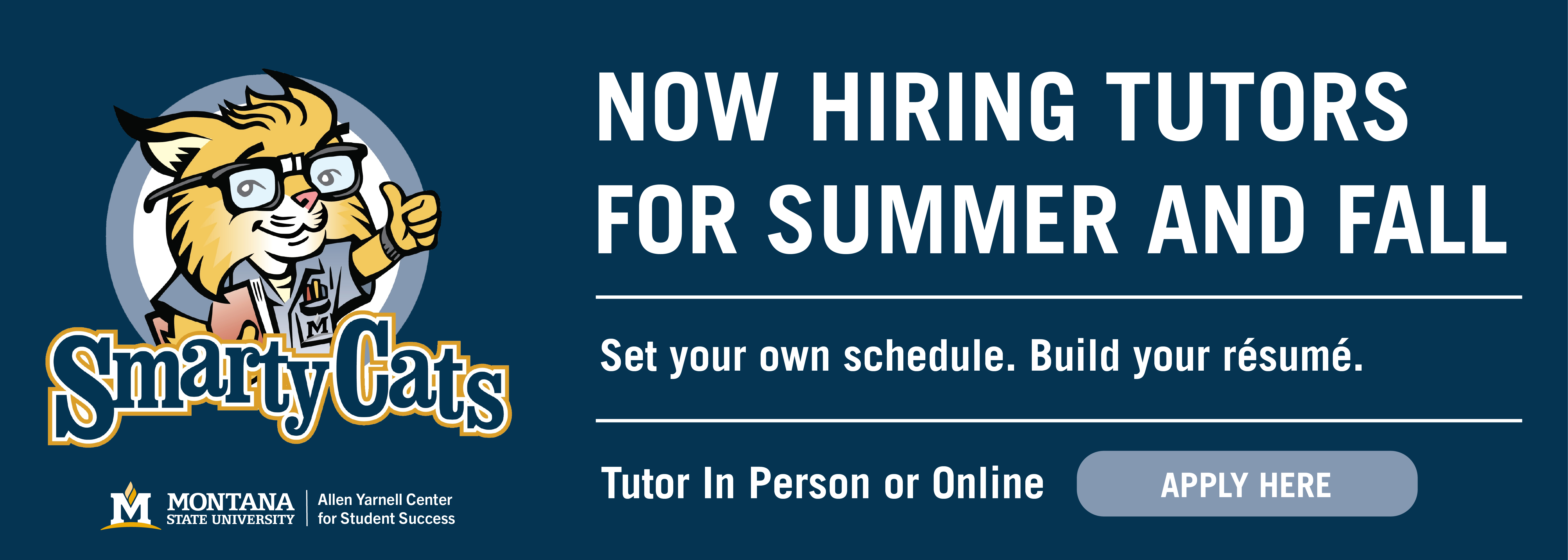 Now hiring tutors for summer and fall
