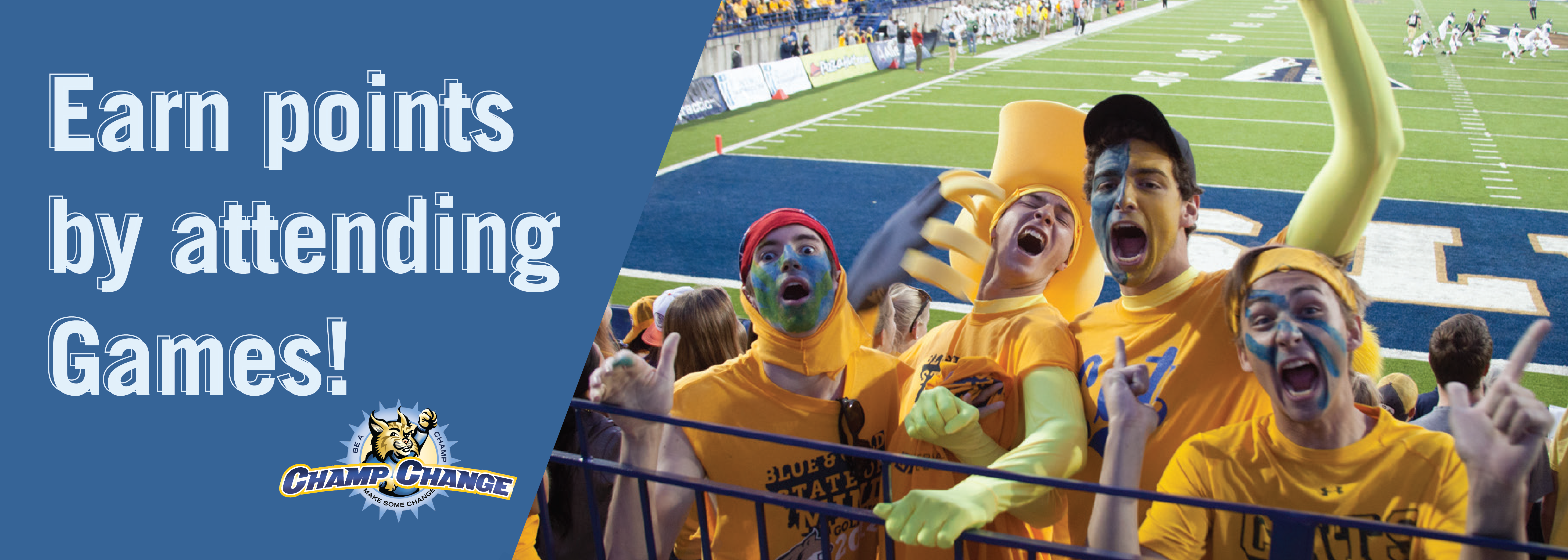 Earn points by attending games!