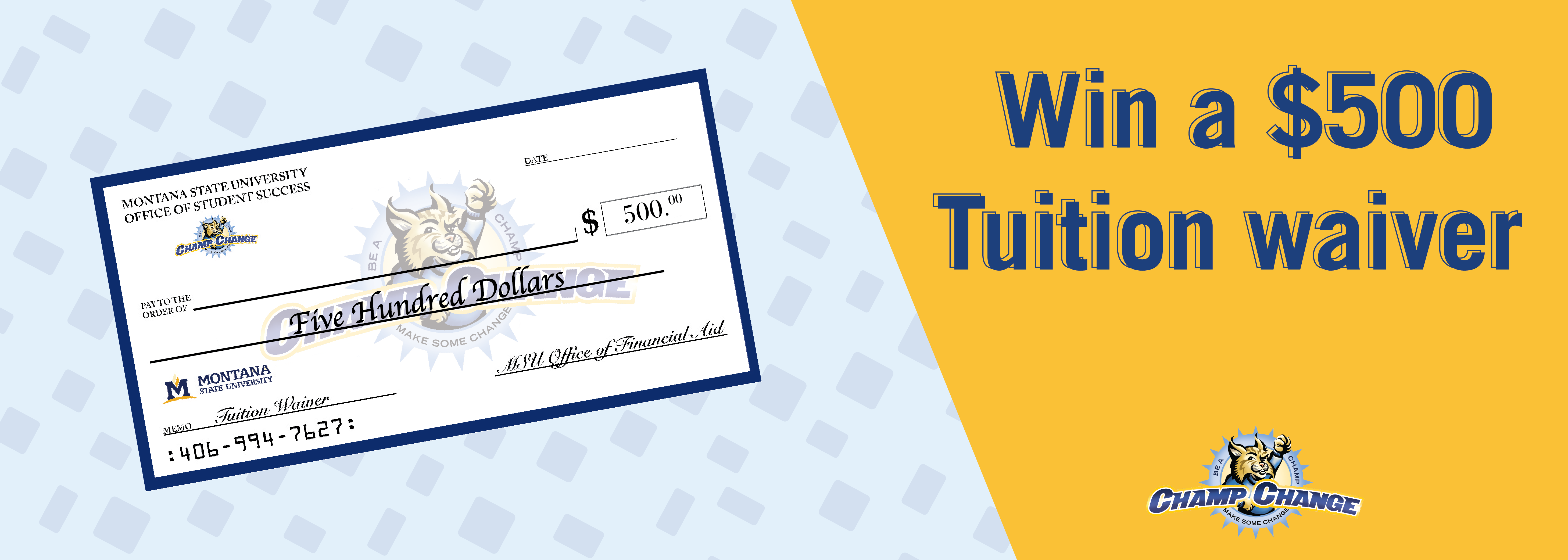 Win a $500 Tuition Waiver