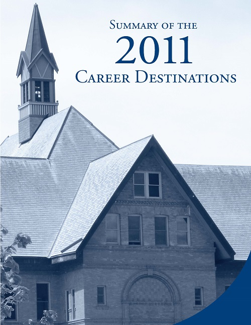 Cover of 2011 Career Destinations pamphlet