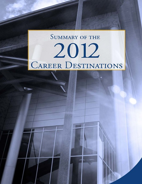 Cover of 2012 Career Destinations pamphlet