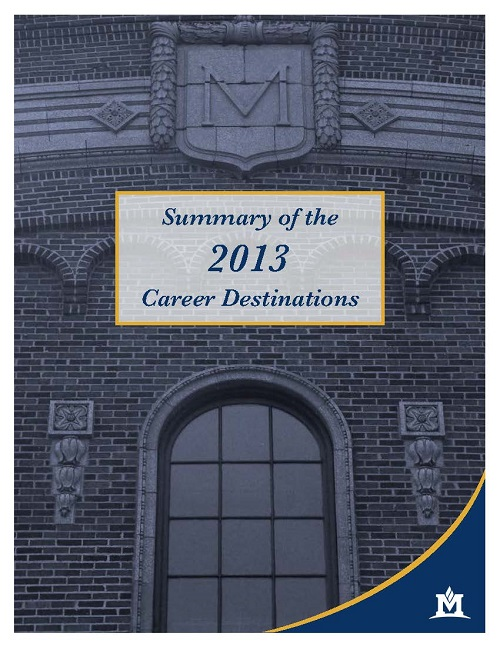 Cover of 2013 Career Destinations pamphlet