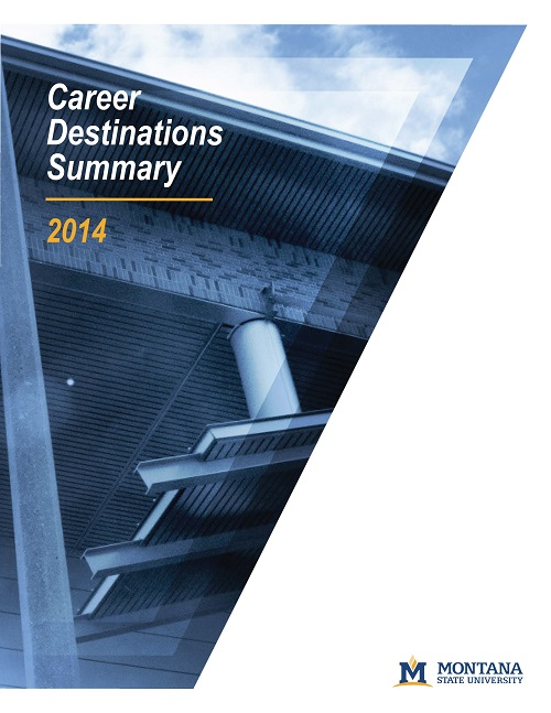Cover of 2014 Career Destinations pamphlet