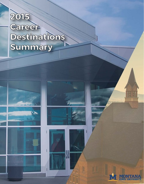Cover of 2015 Career Destinations pamphlet