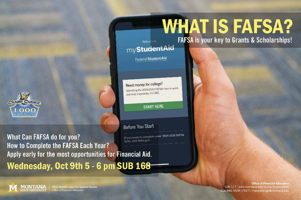 FAFSA workshop Oct 9