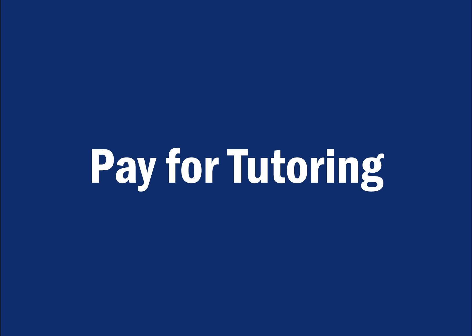 pay for tutoring