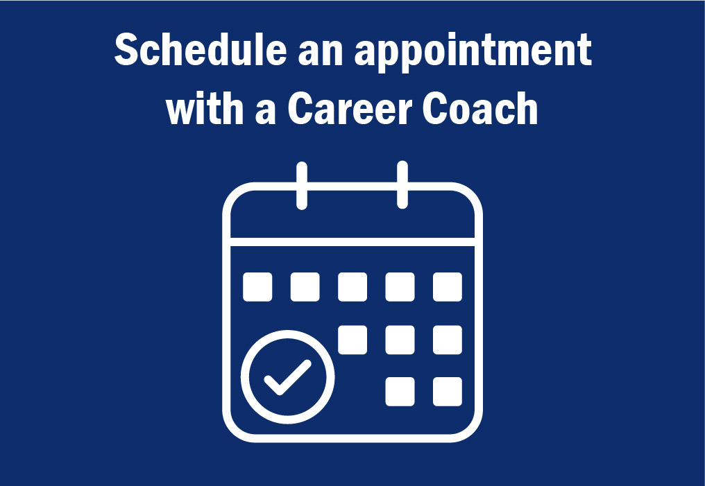 Schedule an appointment with a career coach
