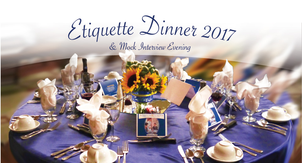 Etiquette Dinner and Mock Interview Evening 2017