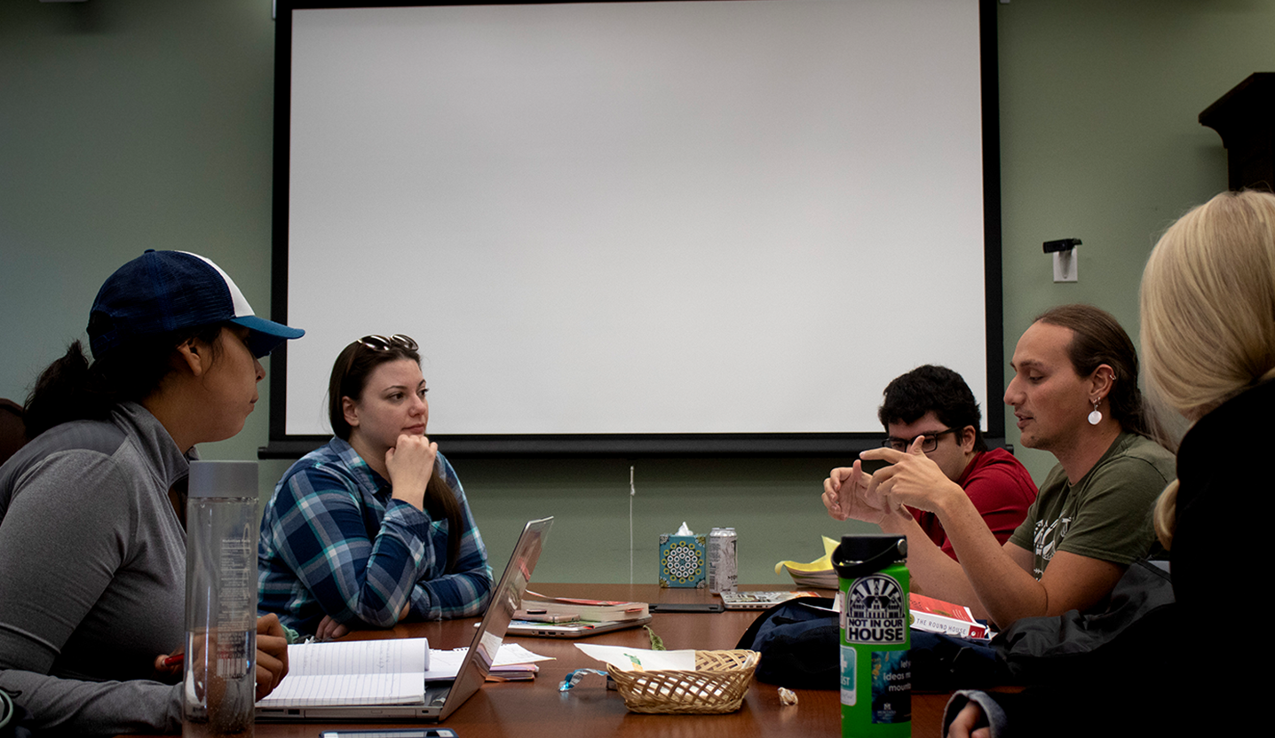 A picture of the saigs or Society of American Indian Graduate Students meeting