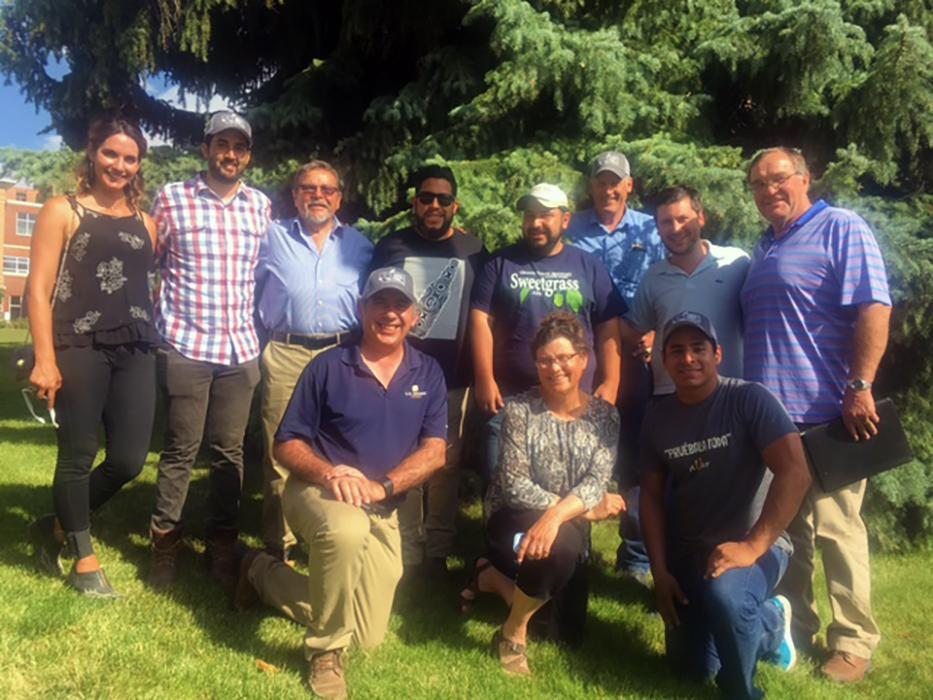 A group of brewers from Mexico joined Jamie Sherman to tour the MSU Malt Quality Lab and learn about Montana barley production