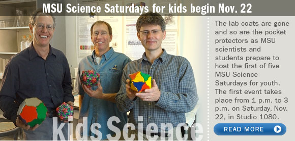 MSU Science Saturdays for kids begin Nov. 22