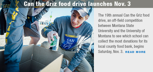 Can the Griz food drive launches Nov. 3