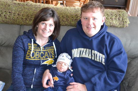 HONORABLE MENTION: Cory '2 and Amber '04 Chenoweth welcome future Bobcat Drew, a member of the class of '34.