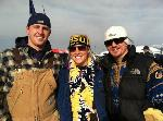 Kjel, Hannah and Jaren dressed appropriately for the game. Photo submitted by Kjel Olson.