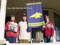 Billings, MT -- Sad Griz Fans after the big game. I always display the Bobcat banner on game day. Hoping to win. George Wallis, Class of '42, ME, Football, Sigma Chi