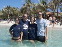 Roatan, Honduras -- Wayne, Linda, Justin, and Kelsey Lower
