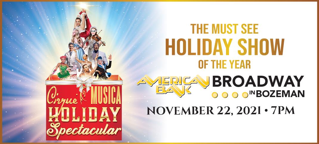 Cirque Musica Holiday Spectacular coming November 22, 2021