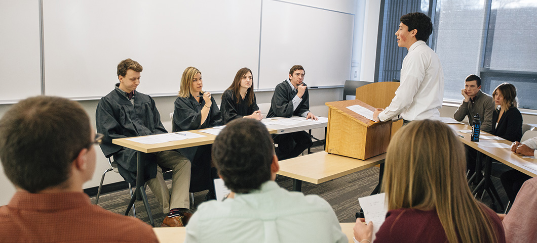 Test your business law knowledge during our Moot Court exercise.