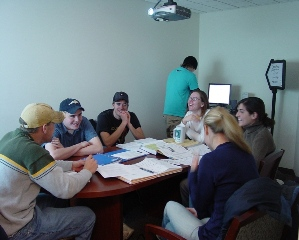 Students in Bracken Conference Room