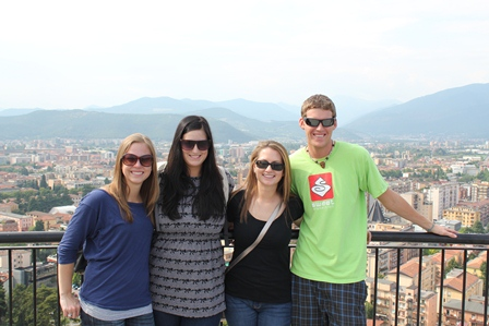 Students in Brescia, Italy