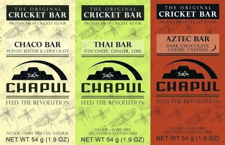 Images of the three types of Chapul Bars