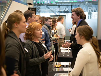 Students connect with employers at one of three college recruiter events