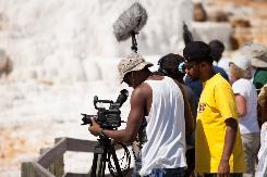Preparing to Film the Falls