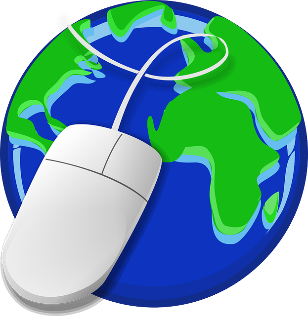mouse on globe