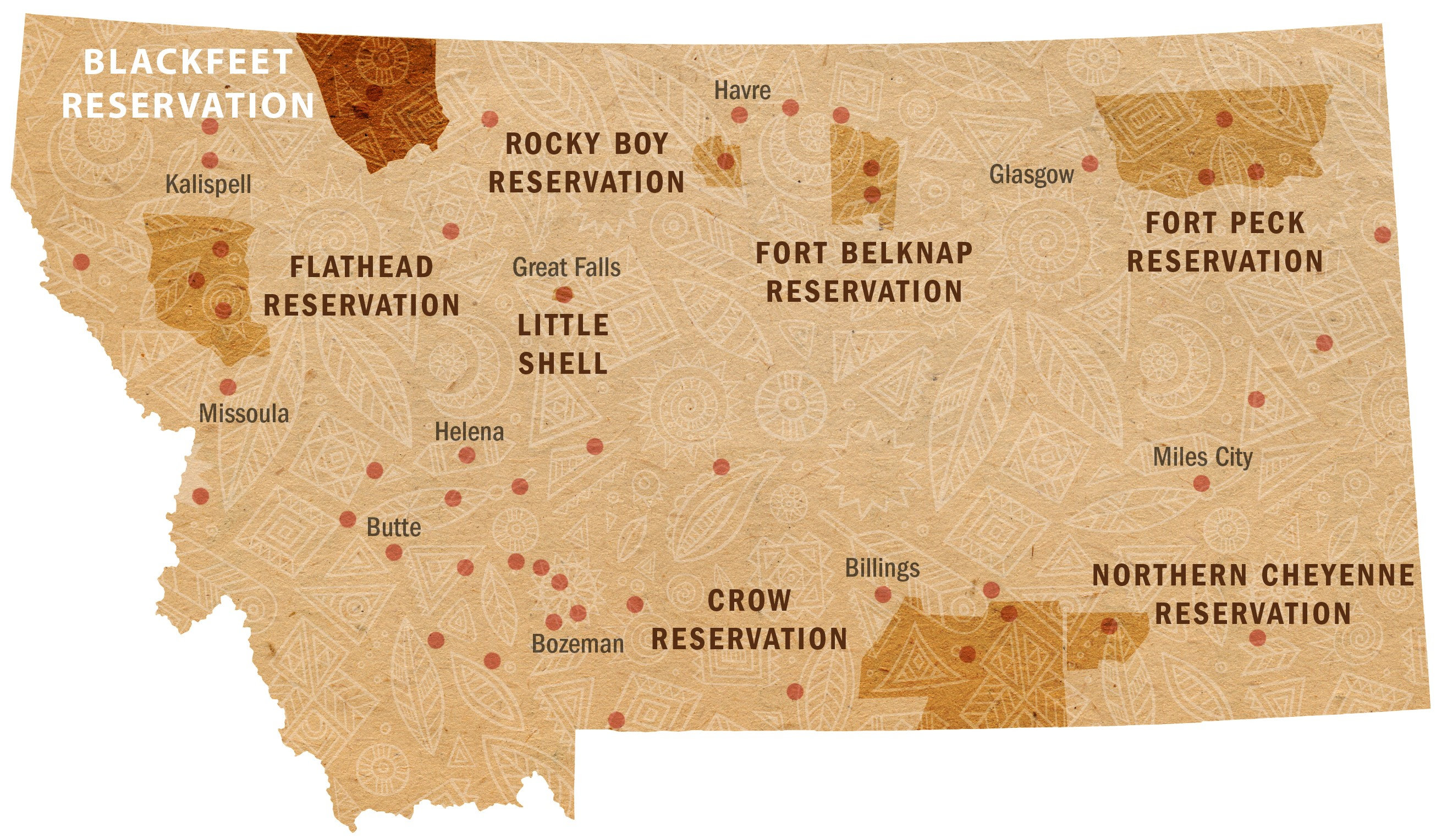 Fort Peck Reservation Map