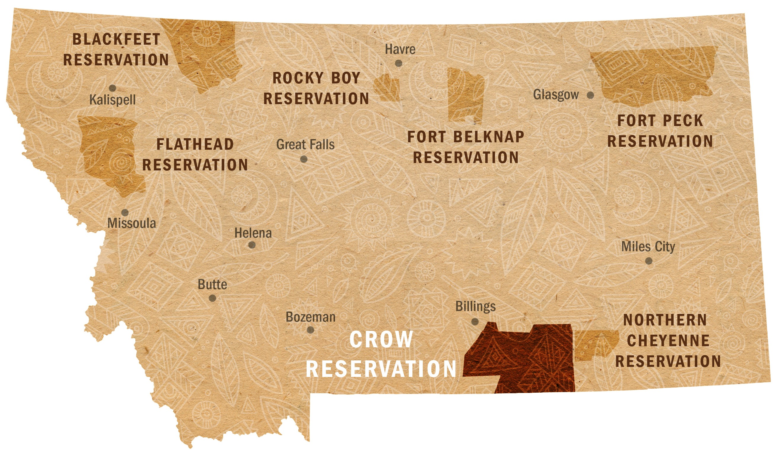 Crow Reservation Map