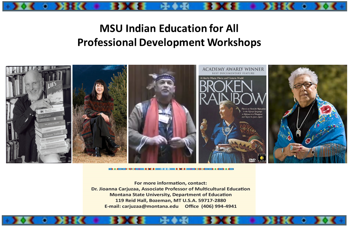msu indian education for all workshop flier