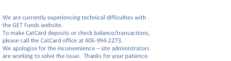 GET Funds Site Temporarily Unavailable
