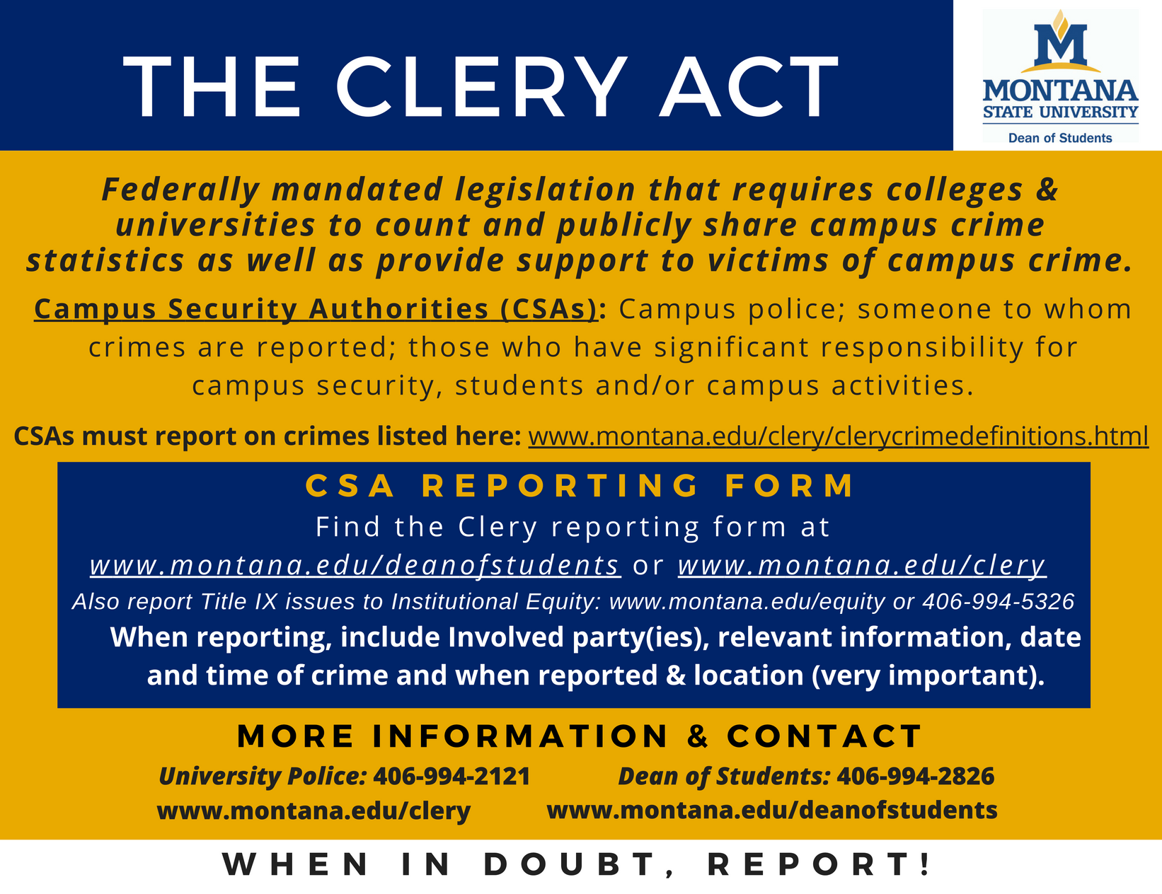 clery act magnet image