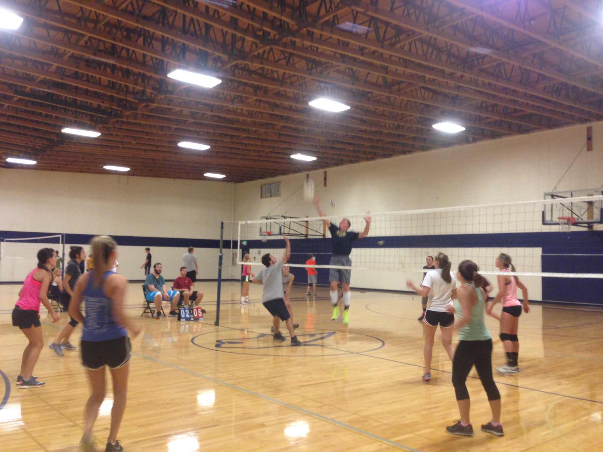 coed volleyball play