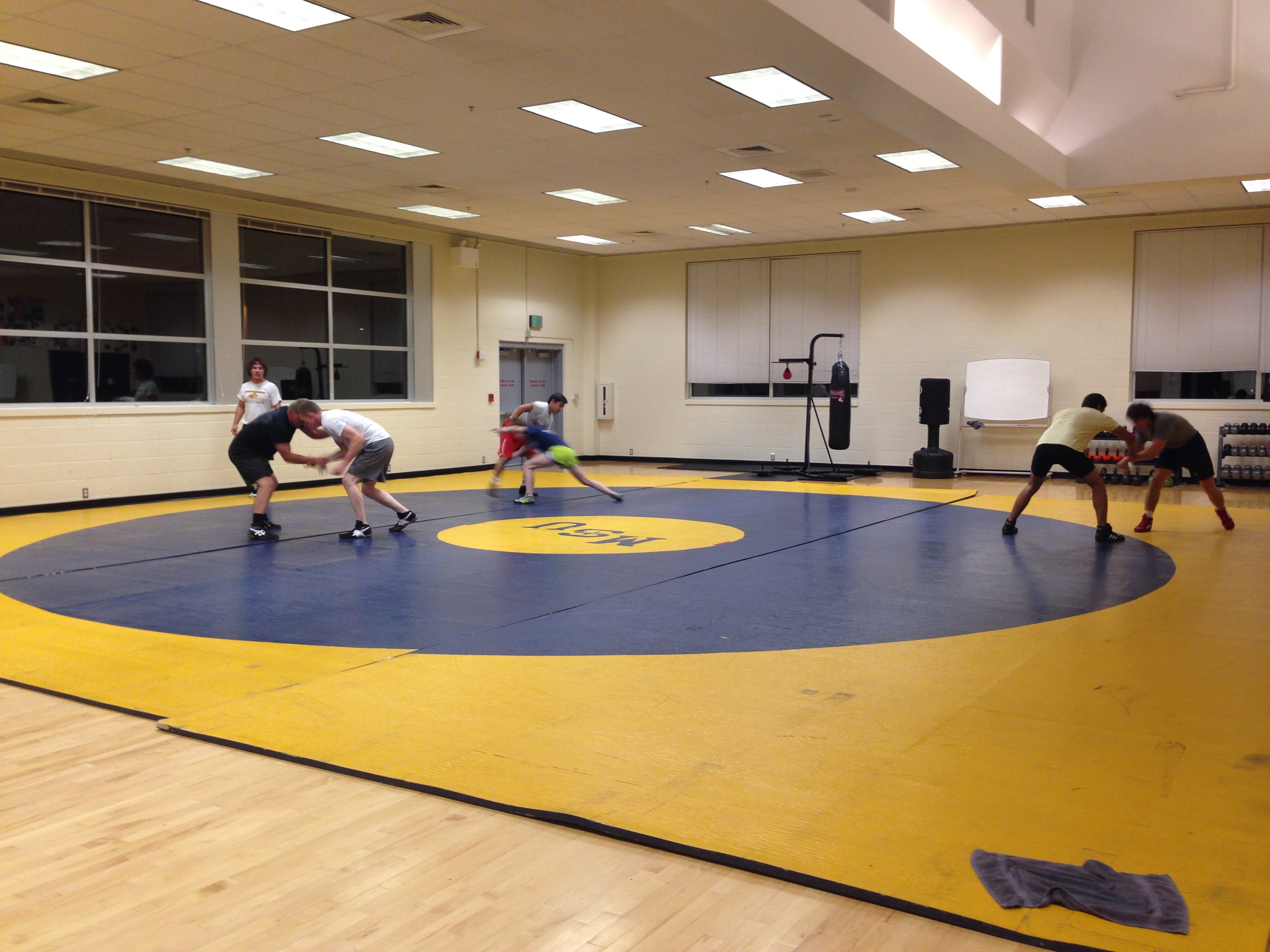 wrestling club team practice