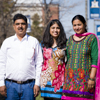 Recent Montana State University graduate Jyoti Sharma, 22, returned to Bozeman this month to celebrate her bachelor's degree in industrial engineering with her parents, who flew to the United States for the occasion. Sharma recounted how a chance meeting in her father's taxi propelled her from India to MSU. (MSU Photo by Sepp Jannotta).