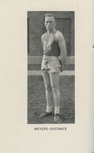 Bernard �Barney� Myers ran track for what was once Montana State College, as shown in the 1934 MSC yearbook.