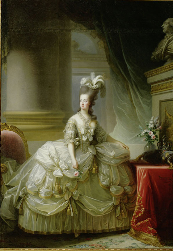 This portrait of Marie Antoinette by French portraitist Élisabeth Vigée Le Brun,