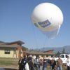 Students at Salish Kootenai College went through Montana Space Grant Consortium training to use a tethered blimp and a special camera mounted underneath to gather information and analyze the data. Now SKC faculty are among 16 Montana tribal faculty members selected to watch a launch from the Kennedy Space Center. (2012 photo courtesy of the Montana Space Grant Consortium).