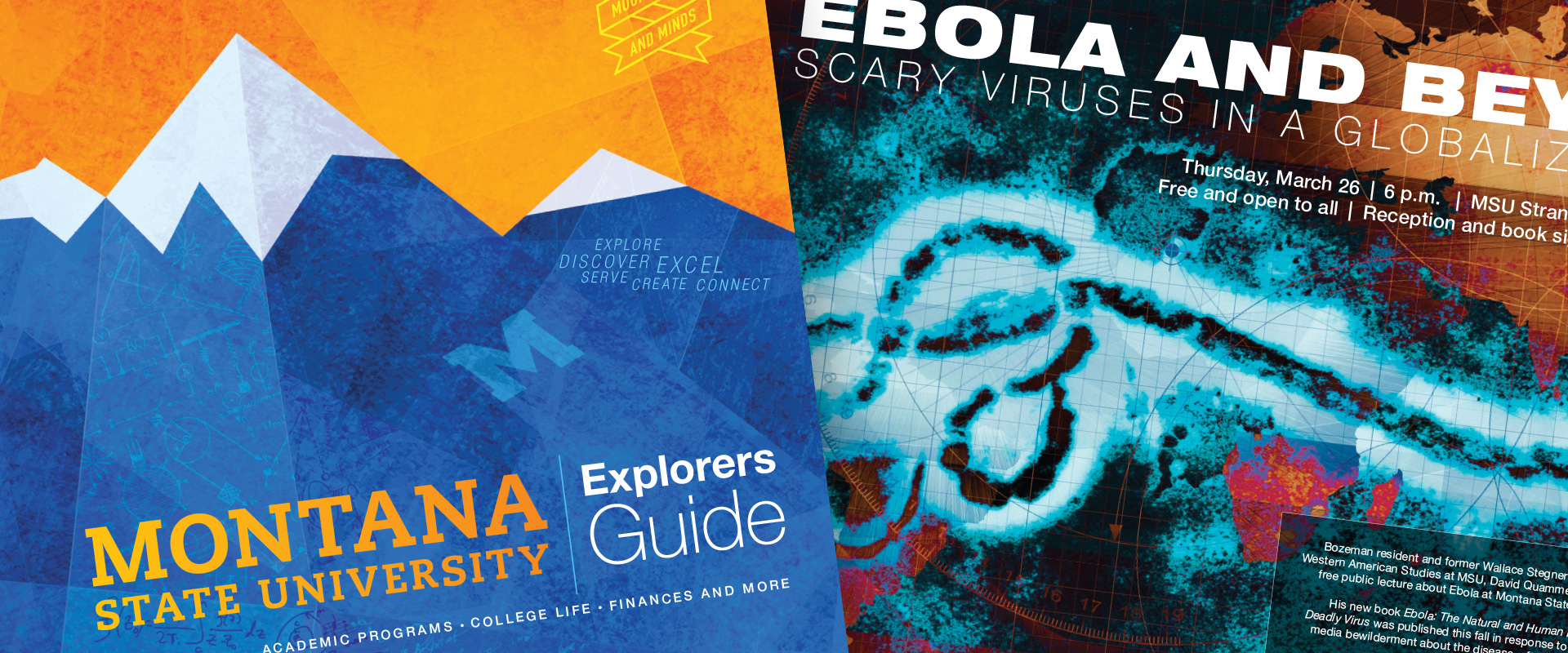 msu creative services samples 2015 viewbook ebola lecture poster
