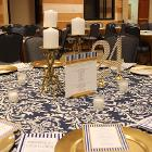 Image of table decorations on round table with number 24.