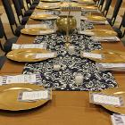 Image of long table decorations.